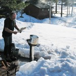 BBQ in de sneeuw