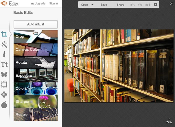 PicMonkey: basis fotobewerking
