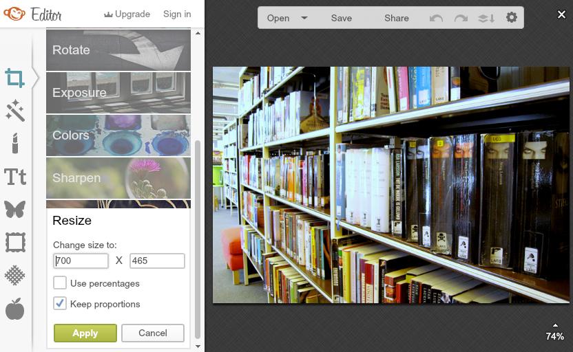 Basis fotobewerking met PicMonkey