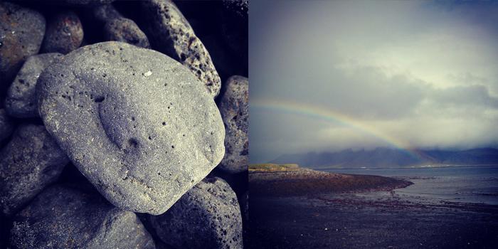 IJsland - Happy rock en regenboog
